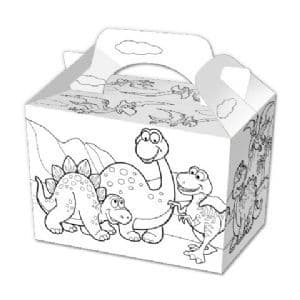 100 Colour Your Own Dinosaur Party Food Boxes