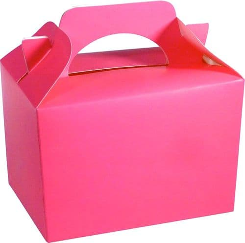 100 Neon Pink Party Food Box