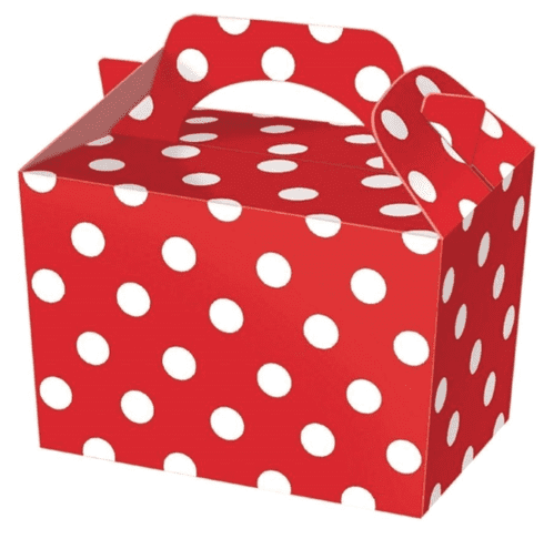 100 Red Polka Dot Party Food Boxes Wholesale