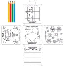 30 Christmas Activity Packs  with Colouring Pencils