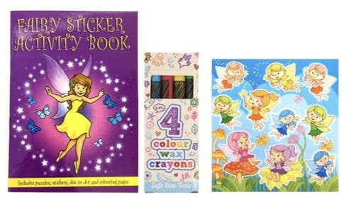 50 Fairy Party Bag Set  C (Pre filled in cellophane)