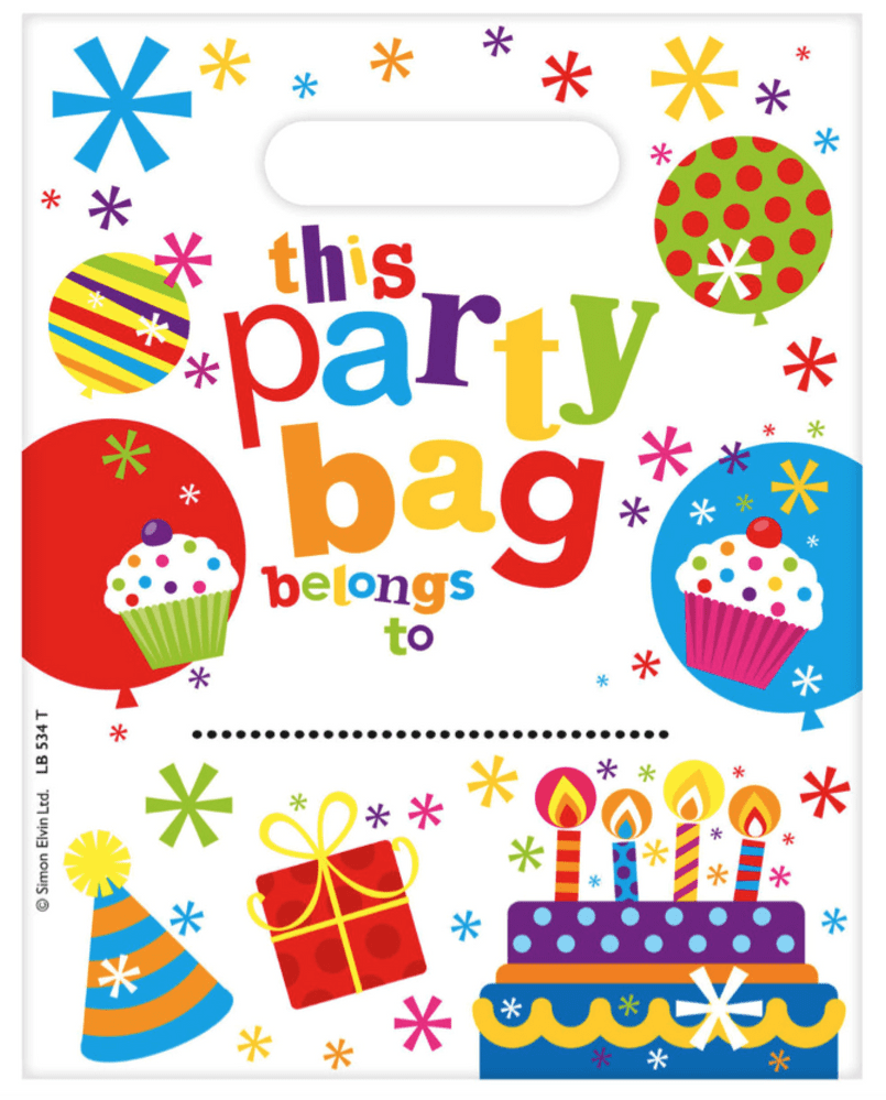 Balloon & Cake Party Bag Loot Bag
