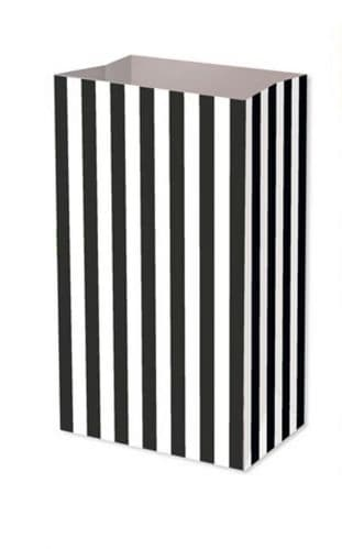 Black Candy Stripe Food Party Bag