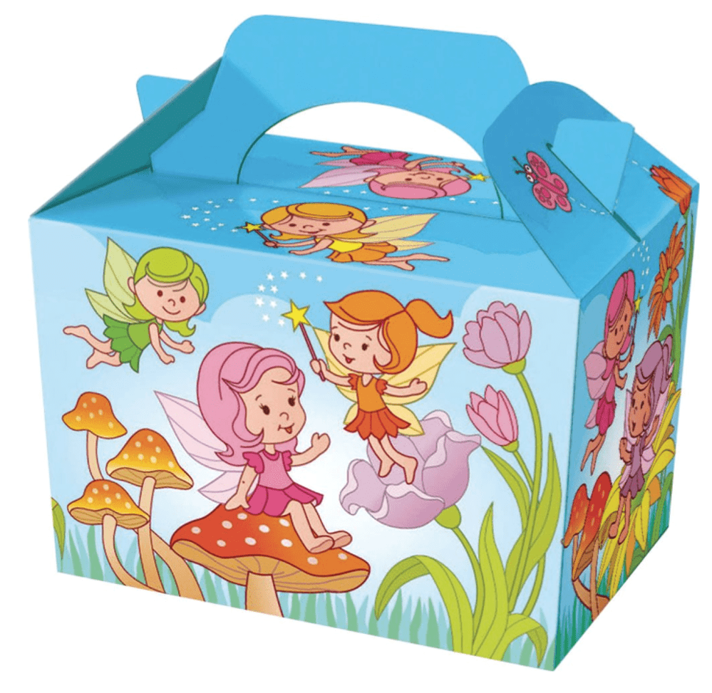 Fairy Party Boxes - Food Loot Lunch Cardboard Party Bag Toys