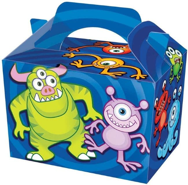 Monster Party Box - Food Loot Lunch Cardboard Party Bag Toys