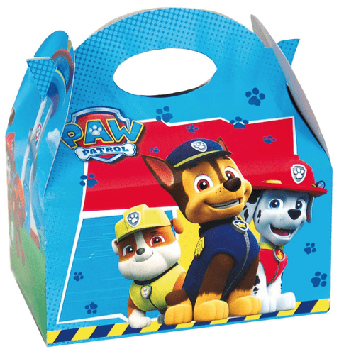 Paw Patrol Party Box  - Food Loot Lunch Cardboard Party Bag Toys