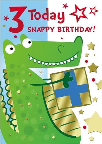 Age 3 Happy Birthday Card  Open Card gift