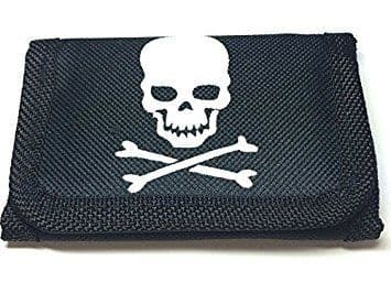 Boys Pirate skull and Crossbone Wallet