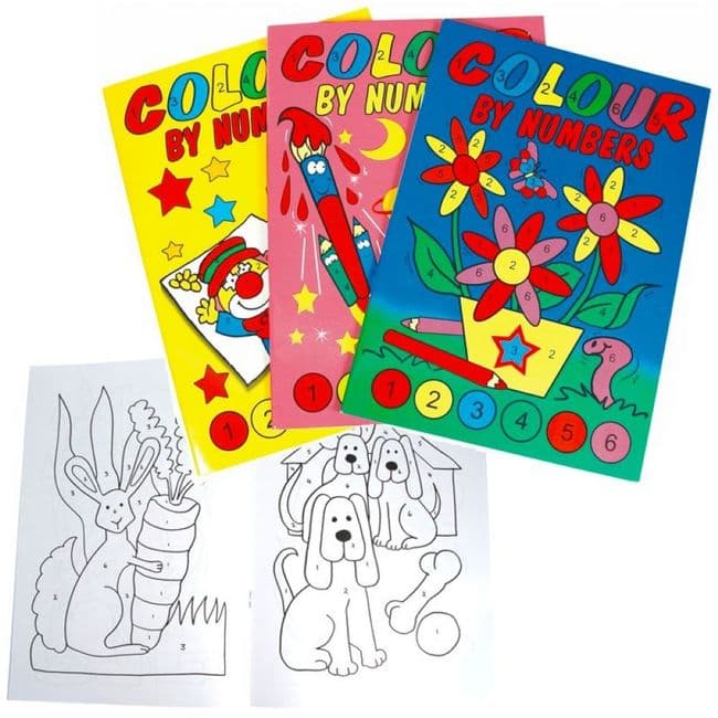 Colour By Numbers Book A6