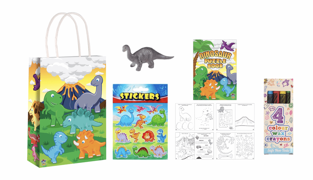 Dinosaur Party Gift Bag Pre Filled- Includes 4 Items