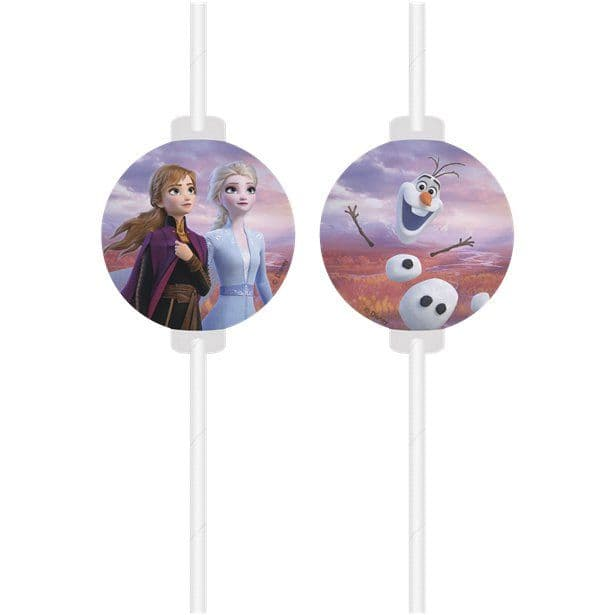 Disney Frozen 2  Paper Drinking Straws (1 pack of 4)