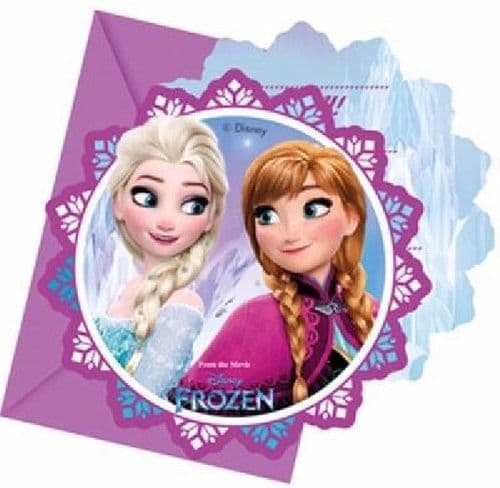 Disney Frozen Party Invites 1 pk of 6