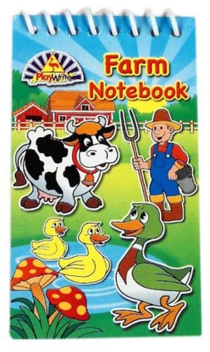 Farm Notebook Party Bag Filler