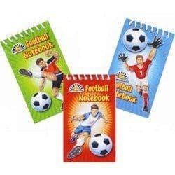 Football Notebook Party Bag Filler