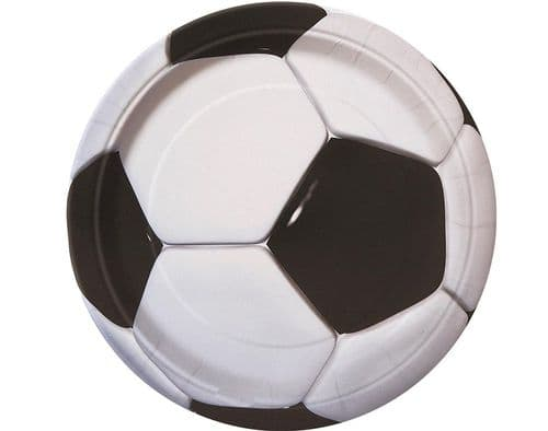 "Football Paper Plates 9"" Pk 8 Party"