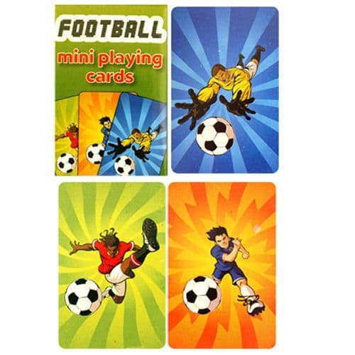 Football Playing Cards Mini Party Bag Toys