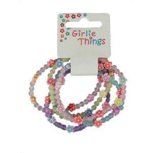 Girls Frosted Flower Bracelets Party Bag Toys Fillers