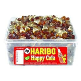 Haribo  Happy Cola Bottles Tub Party Wholesale Sweets