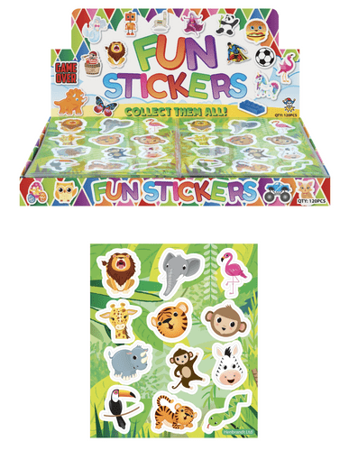 Jungle /  Zoo Stickers Sheets 1 Box of 120