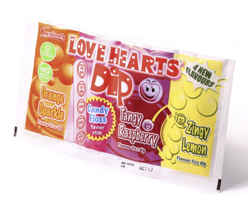 Love Hearts Dip Party Sweets