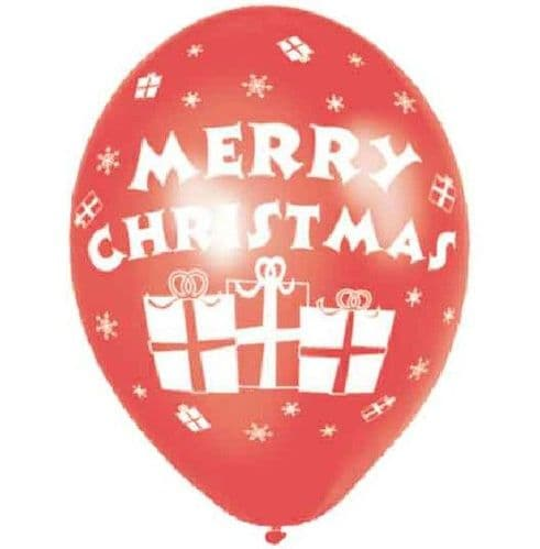 Merry Christmas Balloons (pack of 6)