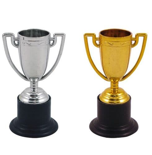 Mini Trophy 10cms  Gold / Silver Party Bag Toys, Prizes Trophies