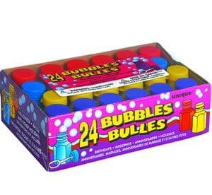 Party Bubbles with Wands Party Bag Toys 24pk (O)