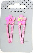 Pink Glitter Daisy Sleepies Clips (pack of 2 clips)