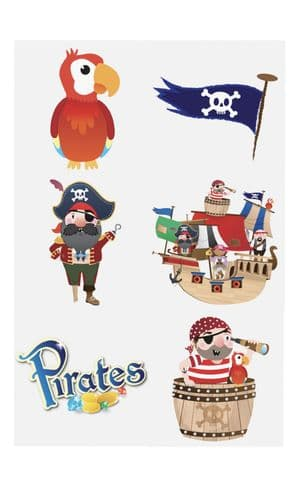 Pirate Tattoo Sheet