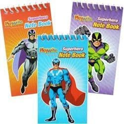 Super Hero Notebook Party Bag Toys