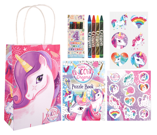Unicorn Party Gift Bag (Pre-filled) Includes 4 items