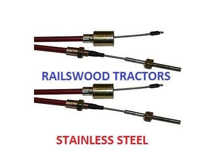 1130MM STAINLESS STEEL CABLES - PAIR