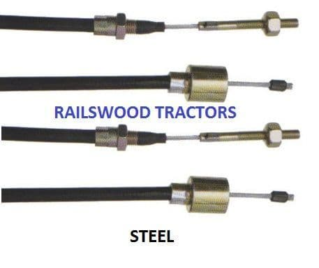 1230MM STEEL CABLES - PAIR