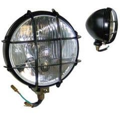 BLACK HEAD LAMP H4  P45T BULB WITH GRILL WITH PARK BULB PART NO: 51409