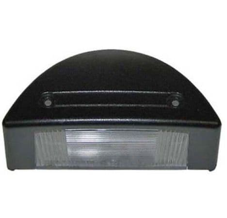 BLACK PLASTIC NUMBER PLATE LAMP ( 104MM) PART NO: 3701
