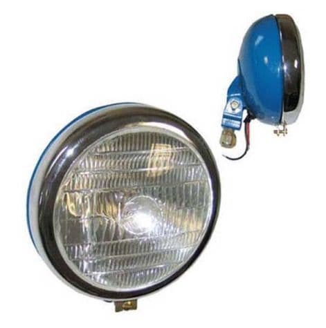 HEAD LAMP CHROME RIM BLUE / LENS WITH LOGO PART NO: 51508