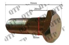 REAR WHEEL STUD PART NO 43012
