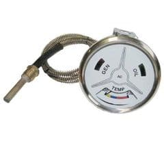 TEMPERATURE GAUGE - WHITE FACE PART NO: 41665