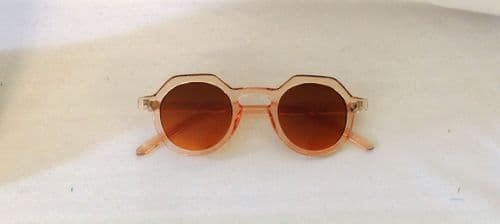 Betty Clear Nude Sunglasses 1930s 1940s style