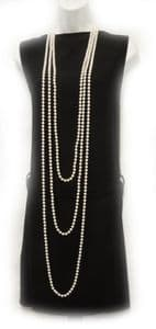 New Vintage 1920's Style Charleston Flapper  Necklace Faux Pearl beads 3 sizes