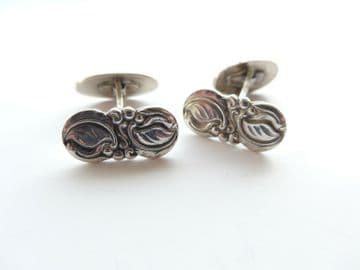 Cufflinks by A PRIP 830S Danish Skonvirke Solid Silver Lilly of the Valley
