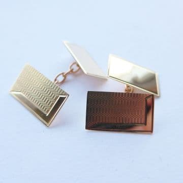 SOLD 60th Birthday Gift - 1958 Hallmarked 9ct Solid Gold Cufflinks