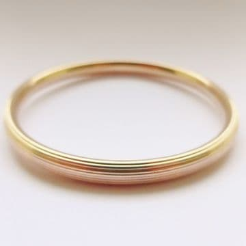 "SOLD Antique Art Deco 9ct Rose Gold Bangle Slave Bangle Or Large Bangle 9"" Inner Circumference"