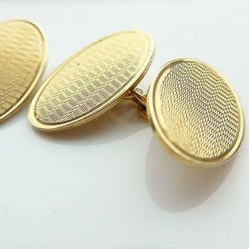 SOLD Antique Art Deco Cufflinks 9ct Yellow Gold Heavy Immaculate Hallmarked Birmingham 1929