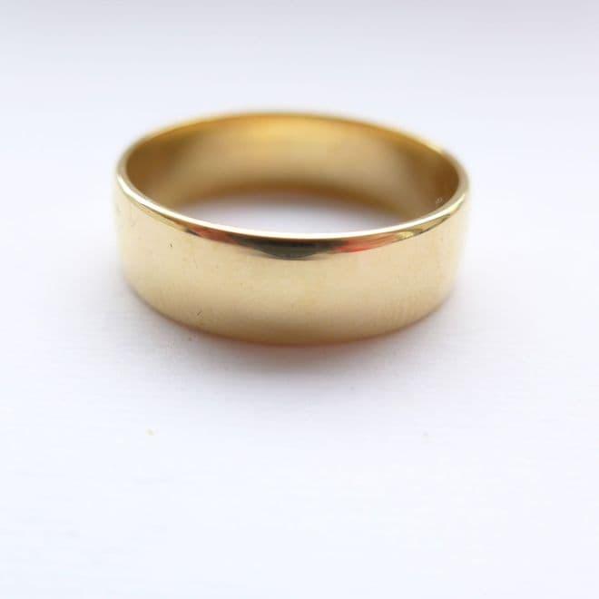 SOLD Antique Art Deco Men's Wedding Ring 18ct Yellow Gold 18K Wedding Band 1924 UK W USA 11