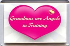 Grandmas are Angels in Training Fridge Magnet UNIQUE Mother's Day Gift from Yummy Grandmummy Range