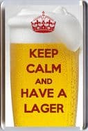 KEEP CALM AND AND HAVE A LAGER Fridge Magnet 7 x 4.5cms Unique Christmas Gift Idea