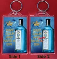 KEEP CALM and HAVE A GIN and ANOTHER GIN Keyring Christmas / Birthday Gift Idea