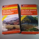 SET OF TWO 1:25,000 SCALE OS MAPS OF THE PEAK DISTRICT (WHITE PEAK AND DARK PEAK) (Second hand)
