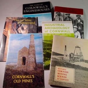 SIX BOOKLETS ON CORNWALL'S MINING HISTORY (SECOND HAND)
